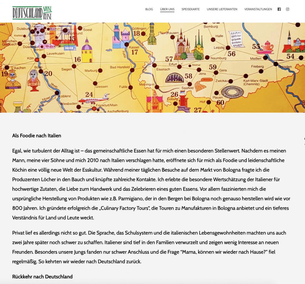 Storytelling Beispiel für ein Restaurant - Deutschlandreise Bonn
