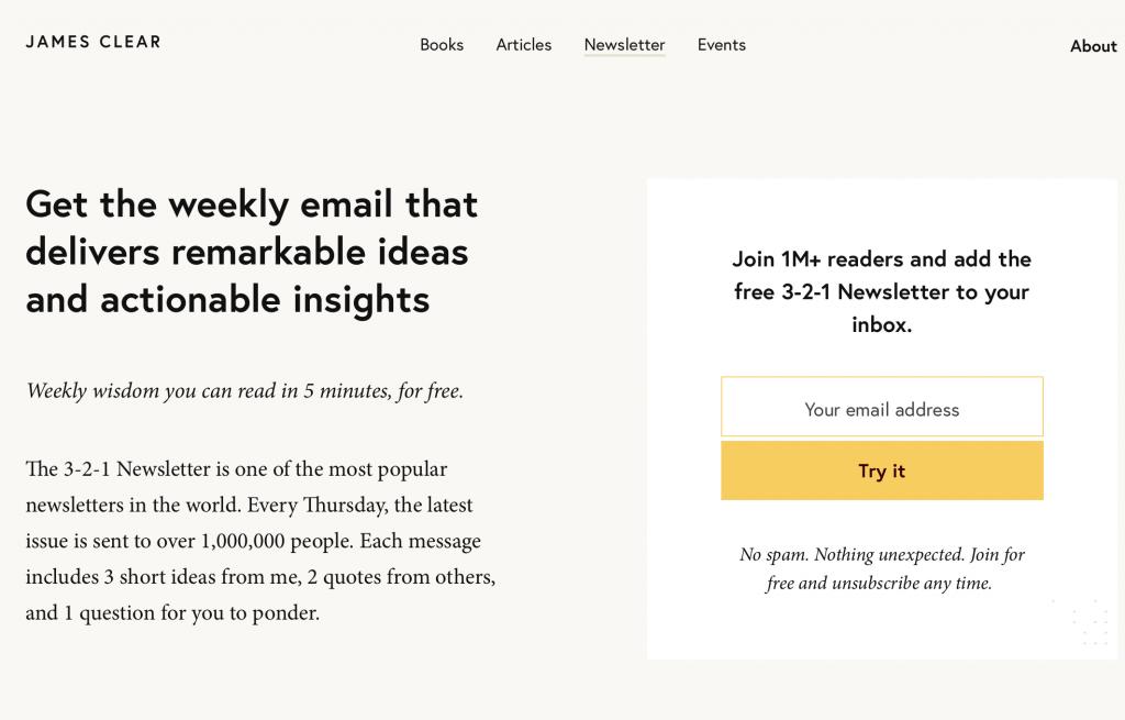 Beispiel Freebie Newsletter